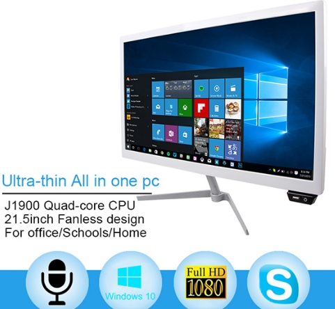 OEM 18.5 21.5 23.5 27 Inch PC With CPU I3i5i7 OS Android Windows All In One Computer Quad Core 1GB DDR3 8GB Pc Desktops