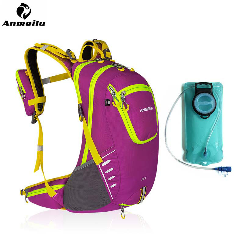 ANMEILU 20L Motorcycle Cycling Outdoor Backpack Bags Travel Camping Sport Bag with 2L Water Bag Hydration Bike Cycling Backpack anmeilu 2l outdoor tpu water bag cycling camping hydration bag camelback sport bike bicycle backpack bladder mochila rain cover