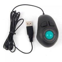 BSBL Portable Finger Hand Held 4D Usb Mini Trackball Mouse