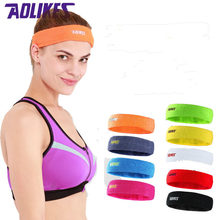 AOLIKES Cotton Sports Basketball Sweatband For Women Yoga Hair Band Head Sweat Band Fitness Gym Running Headband zweetband hoofd(China)