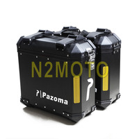 Motorcycle Black Left Right Side Box Side Case Saddle Bag Luggage Pannier Cargo for BMW F800GS 2009 2012 Universal