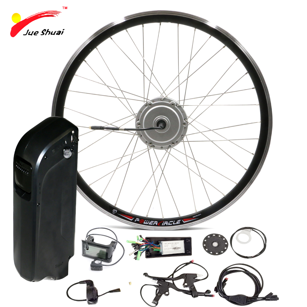 "Ebike Battery 48V 250W 350W 500W Electric Bicycle Kit with SAMAUNG Kettle Battery Front 26"" Powerful Electric Bike Wheel"
