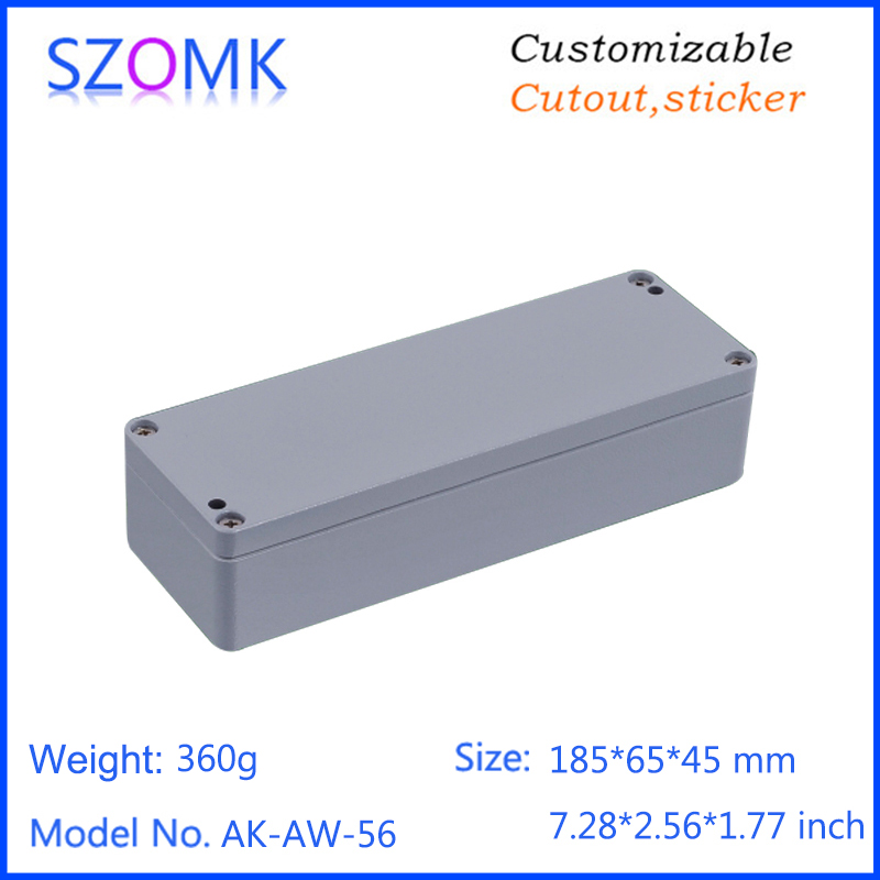 1 piece, 185*65*45mm IP66 waterproof aluminum die casting electronic enclosure high quality aluminum box amplifier control box 1 piece 250 190 92mm hot selling die casting aluminum electronic enclosure control housing case waterproof aluminum enclosure