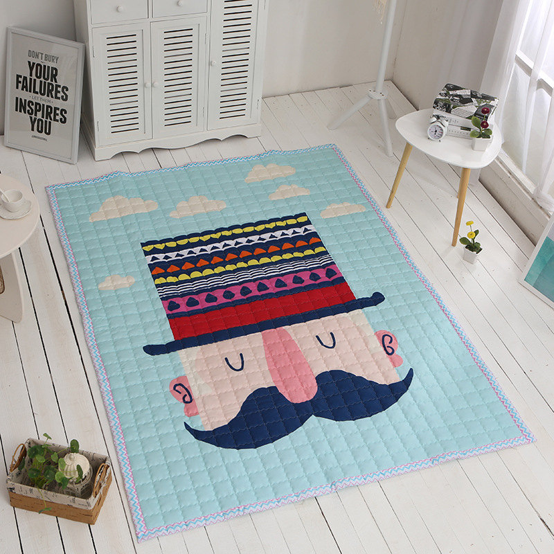 Mignon enfants jouer tapis de jeu enfant jeu tapis en plein air bébé ramper tapis épaissir tapis bébé ramper tapete amical à la peau tapis