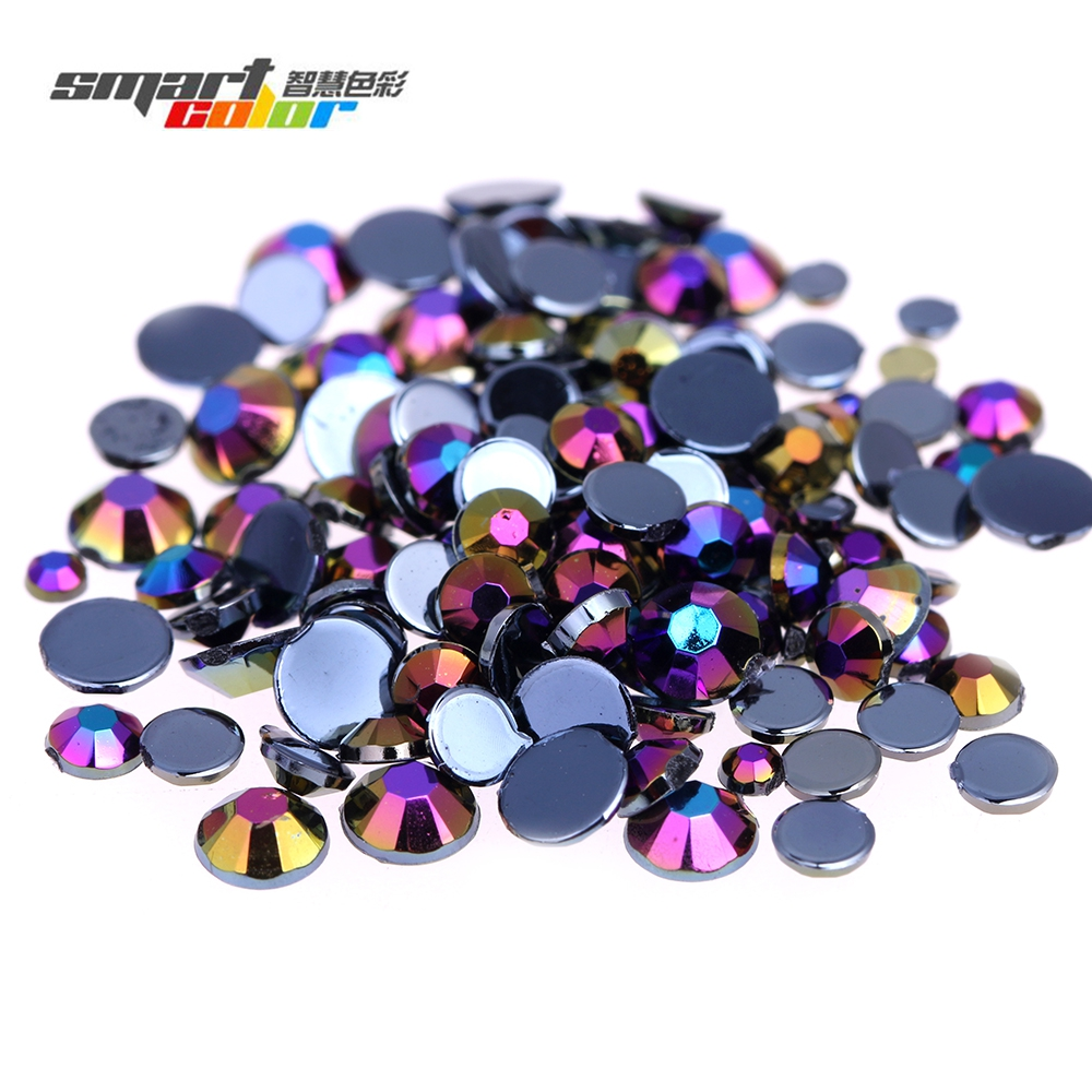 Acrylic Rhinestones Black ab Color for Shoes Clothing Decorations Sparkling Nail Art Decorations