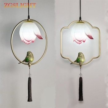Modern Bird Lamp Classic Personalities Balcony Aisle Corridors Light Fixtures Restaurant Room Parlor Study Cafe Pendant Lights