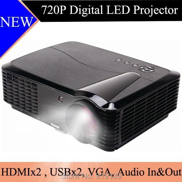 Яркий картина новая 720 P кинопленку dvd-hdmi проектор с USB VGA из светодиодов лампы хорошая цена цифровой видео Projecteur 3d-дисплей