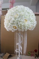 SPR new arrival 2pcs/lot 50cm dia. wedding table centerpieces flower ball stage road lead flower decoration Free shipping