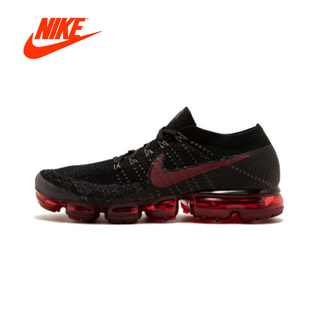 Original New Arrival Authentic Nike Air VaporMax Be True Flyknit Men's Running Shoes Sport Outdoor Sneakers 849558-013