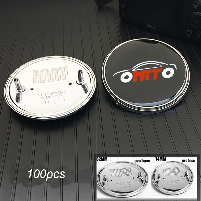 100pcs 74mm 82mm Car Front Bonnet Stickers Auto Trunk Emblem Caps For M X1 X2 X3 X4 X5 X6 1 2 3 4 5 6 7 series Car Accessories-in Car Stickers from Automobiles & Motorcycles    1