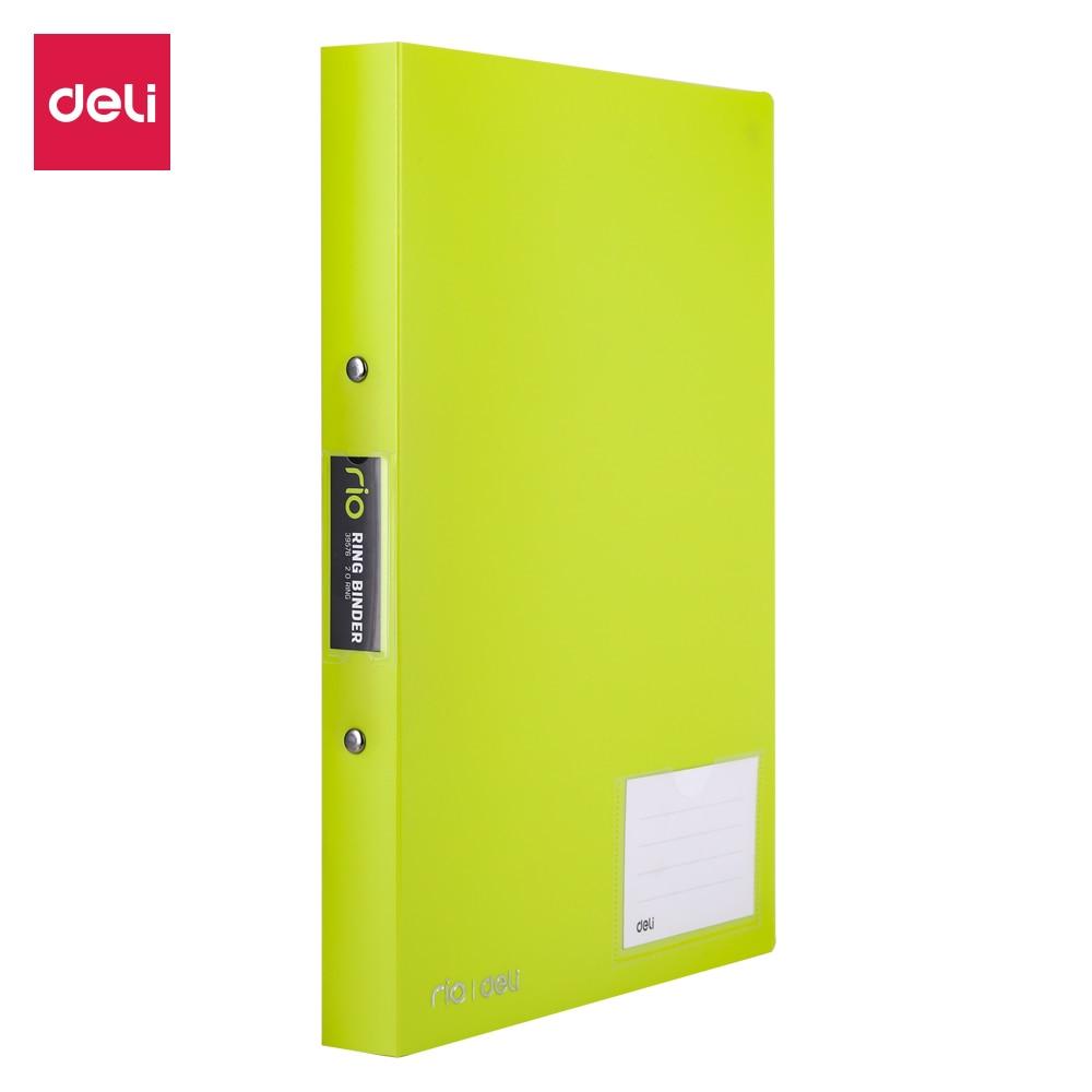 Deli 1 INCH 2 O-Ring Binder A4 Colorfull PP File E39576