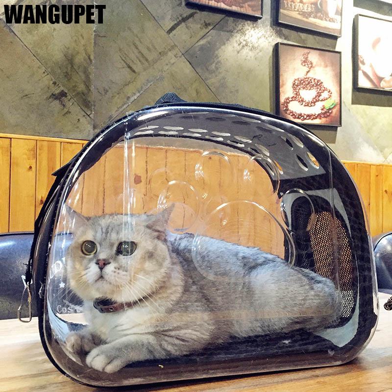 Transparent Folding Cat Pack Pet Backpack Cat Dog Universal Travel Out Carrier Bag Package Transparent Breathable Cat Travel Box