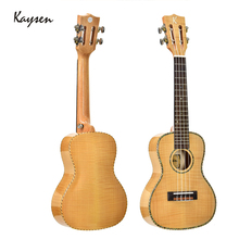 Kaysen Ukulele 23 inch Tiger stripes maple Hawaii Guitar Ukulele 4 Strings Ukulele Concert for Kids Gift Professional JUK08 недорго, оригинальная цена