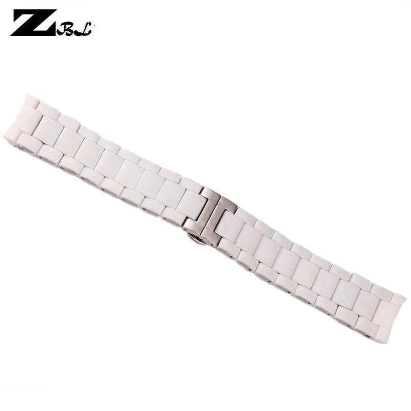 Gummiurbånd rustfrit stål i hvid silicagel til AR5859 han 23mm - Tilbehør til ure - Foto 2
