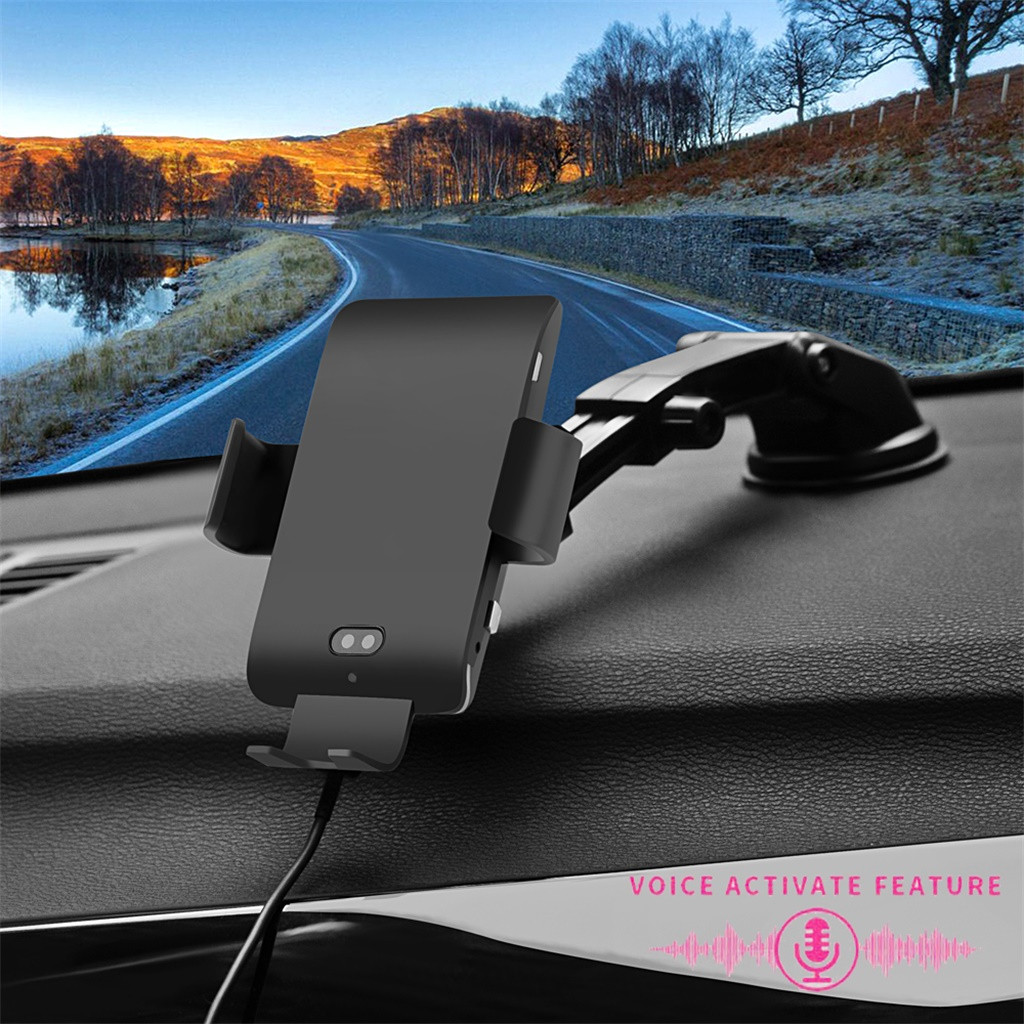 Wireless Car Charger Mount Voice Activate Auto Clamping Qi 10/7.5W Fast Charging For For Samsung S10 S9 S8 Note 9