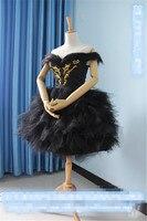 ホットゲームミラクルニッキブラックスワン白鳥コスプレ衣装フォーマルダンスドレスカスタムメイド服用女の