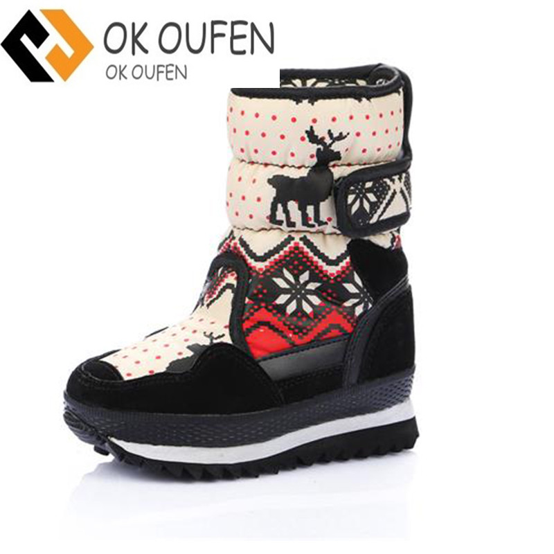 Brand 2016 HOT! EUR35-41 Fashion Non-slip Skiing Boots Waterproof Snow Boots Women Winter Boots Female Snow Shoes Women Plush