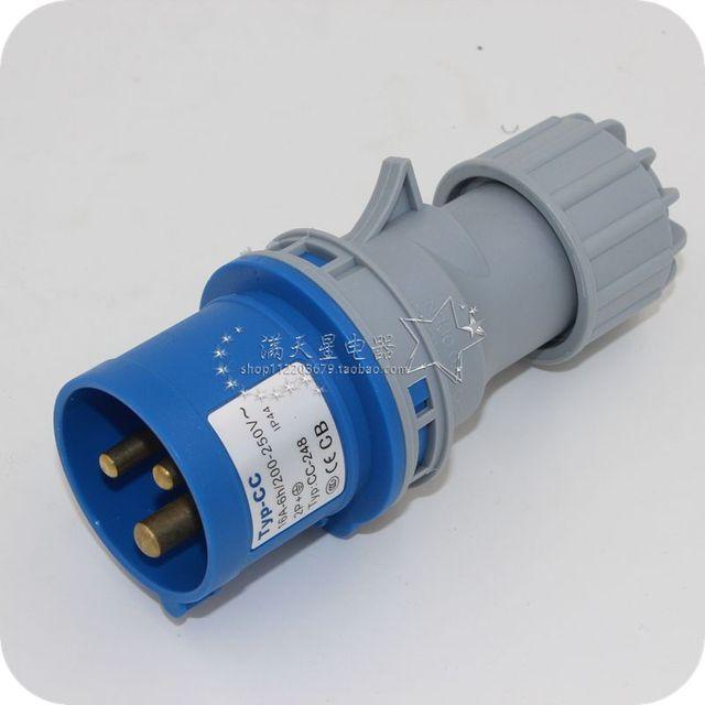 Stage lighting waterproof plug socket plug socket 3 pin power box ...