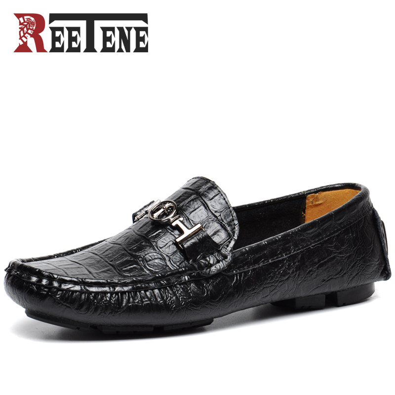 High Quality Men Loafers Leather Casual Shoes Men Loafers Luxury Brand Men Shoes Genuine Leather Men Falts Shoes Mocasines цена