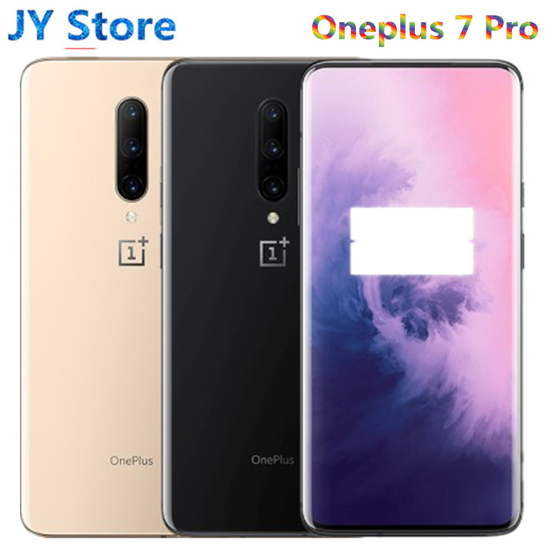 """Global Oneplus 7 Pro Smartphone Oxygen Android Snapdragon 855 AMOLED Octa Core 6.67"""" 3120x1440 Curved Edge OTA 30W Mobile