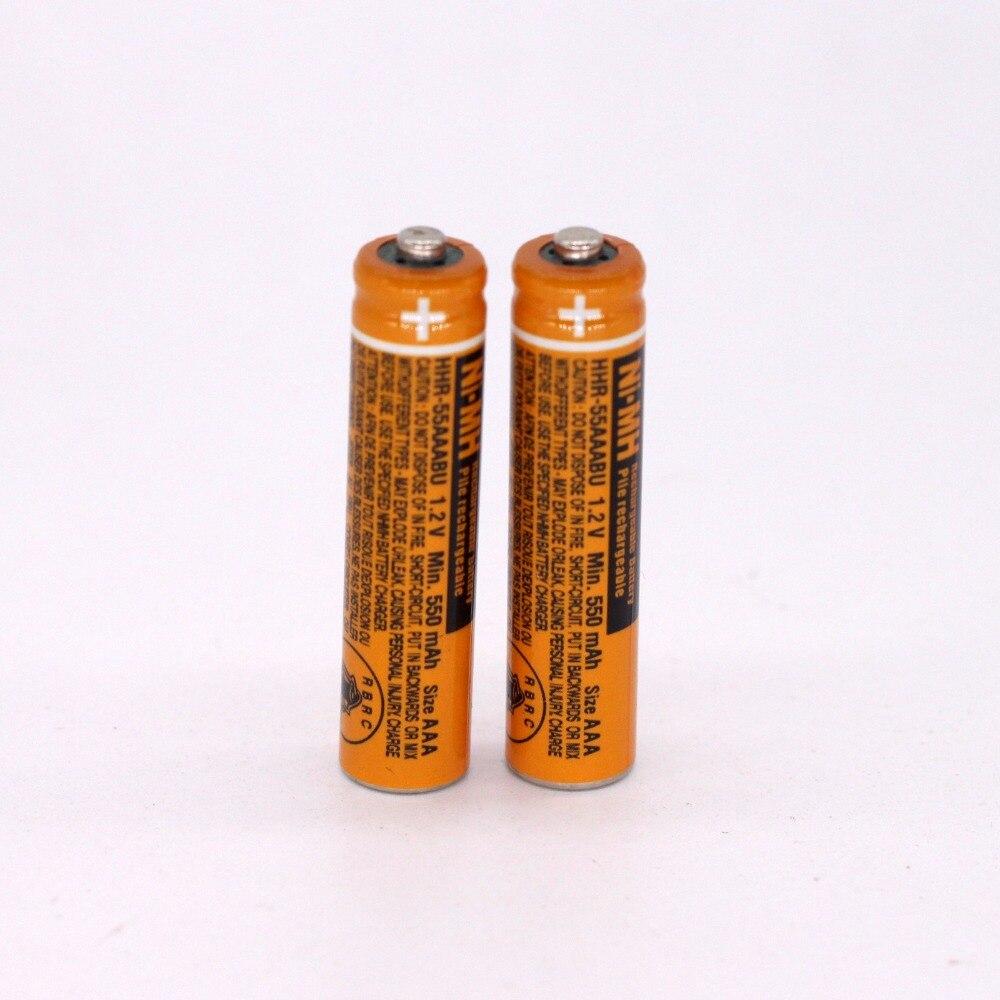 2PCS AAA battery for HHR 55AAABU For Panasonic Cordless Phone batteries 1 2V 550mAh Original New