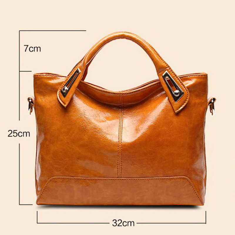 Image 5 - Women Oil Wax Leather Designer Handbags High Quality Shoulder Bags Ladies Handbags Fashion brand PU leather women bags WLHB1398bag tennisbag picnicbag clutch -