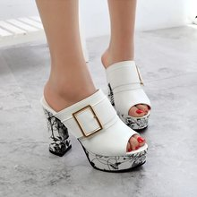 Summer White Super High shoes women Sandals Europe and America metal button heels 11cm Female shoe 2019 new sandals