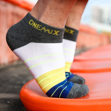 Onemix Mens Pure Week 1pairs Comfortable Soft Indoor Casual Training Cotton For Running Low Help Boat Socks