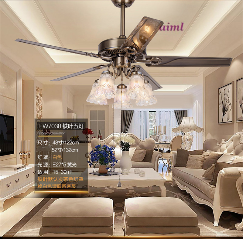 Ventilatorska svjetiljka ventilacijska svjetiljka dnevna soba - Unutarnja rasvjeta - Foto 4