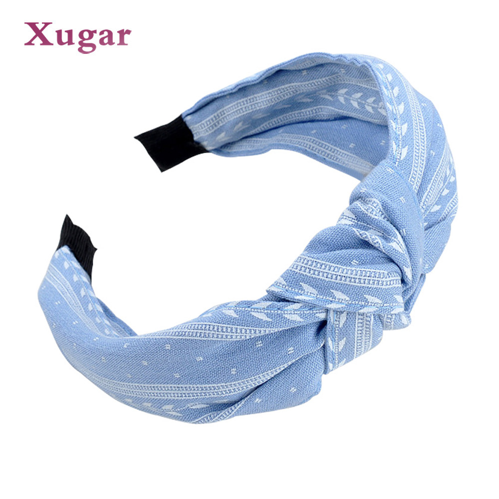 Women Girl Bowknot Wide Hairband Headband Fashion Hair Accessories Cloth Head Buckle Headscarf Broadside Head Hoop   Headwear