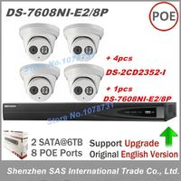 Hikvision NVR DS 7608NI E2 8P 8CH 8 POE 2TB HDD 4pcs Hikvision DS 2CD2352 I