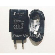 Nuovo Originale Per DOOGEE BL9000 5V 5A USB AC Adattatore del Caricatore UE di Corsa Della Spina di Commutazione di Alimentazione + USB cavo della linea dati