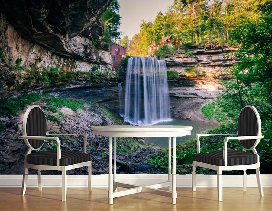 Custom landscape wallpaper,Canada Waterfalls Ontario Crag Nature wallpapers,bar living room tv sofa wall bedroom 3d murals custom 3d murals forests trees rays of light tree nature photo wall living room sofa tv wall bedroom restaurant wallpapers