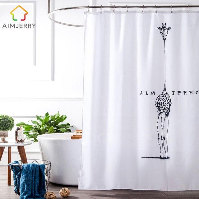 Aimjerry Bianco e Nero in tessuto Personalizzato Vasca Da Bagno Prodotti Da Bagn