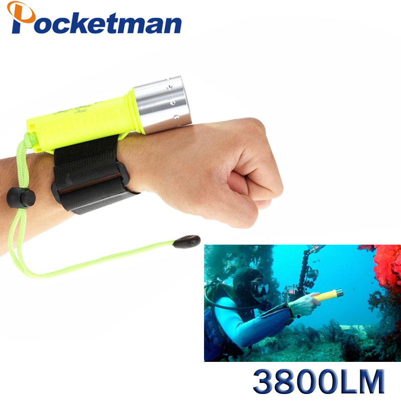 3800 Lumens LED Diving Flashlight Lantern XM-L T6 Waterproof Underwater Scuba Flashlight Torch Light Lamp Diver scuba dive light