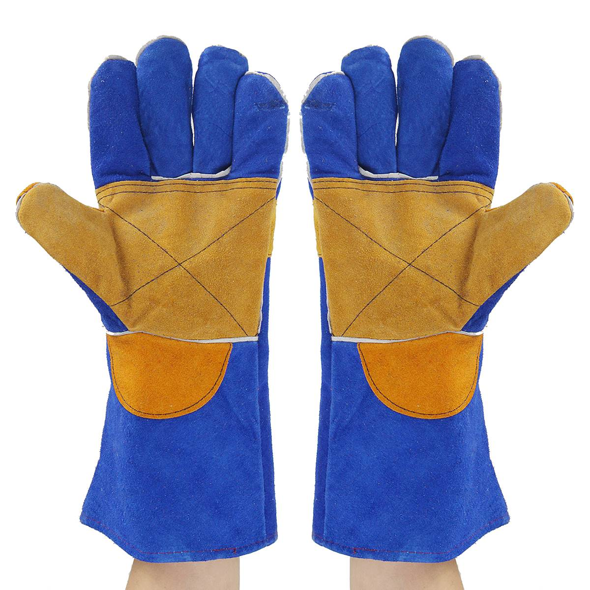 NEW 35/40cm Heavy Duty Welding Gloves Leather Cowhide Protect Welder Hands 2 Sizes  Workplace  Safety Gloves welder machine plasma cutter welder mask for welder machine