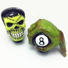 Car personality gear green giant devil modified funny skeleton head manual universal lever