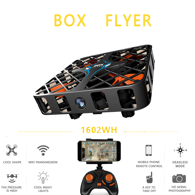 EBOYU(TM) 1602WH Wifi FPV 2.4G 6 Axis Gyro 3D Flip 0.3MP HD Camera Crashworthy Structure Altitude Hold Mini RC Quadcopter Drone