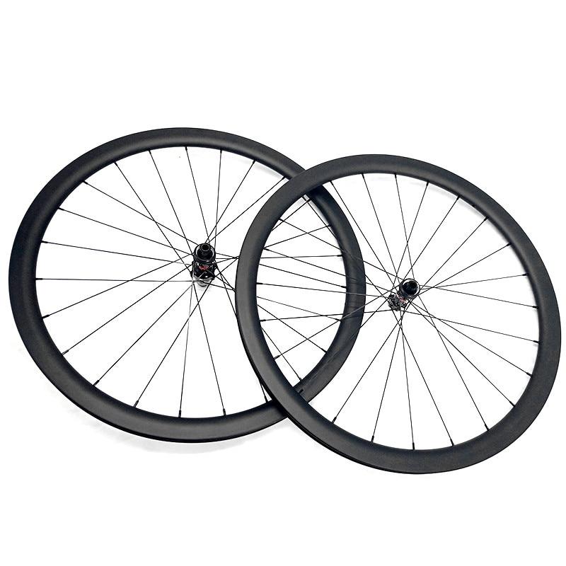 carbon wheels carbon disc wheel 700c 50x26mm tubular road disc wheel bicycle NOVATEC 100x12 142x12 Center lock
