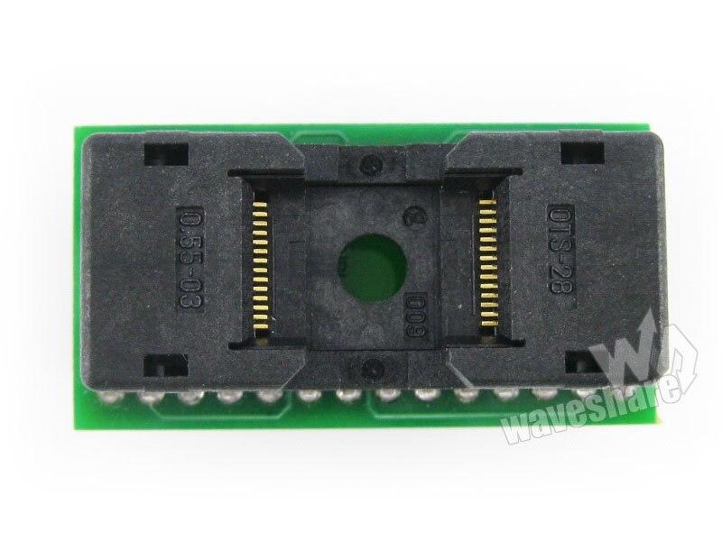module TSOP28 TO DIP28 TSSOP28 Enplas IC Test Socket Programming Adapter 0.55mm Pitch бесплатная доставка ic интегральной схемы max3238ecpwr ic rs232 3 в 5 5 в drvr 28 tssop 3238 max3238 3 шт