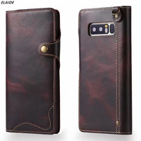 For Samsung Galaxy Note 8 Case Luxury Genuine Leather Phone Case For Samsung Note 8 Cover