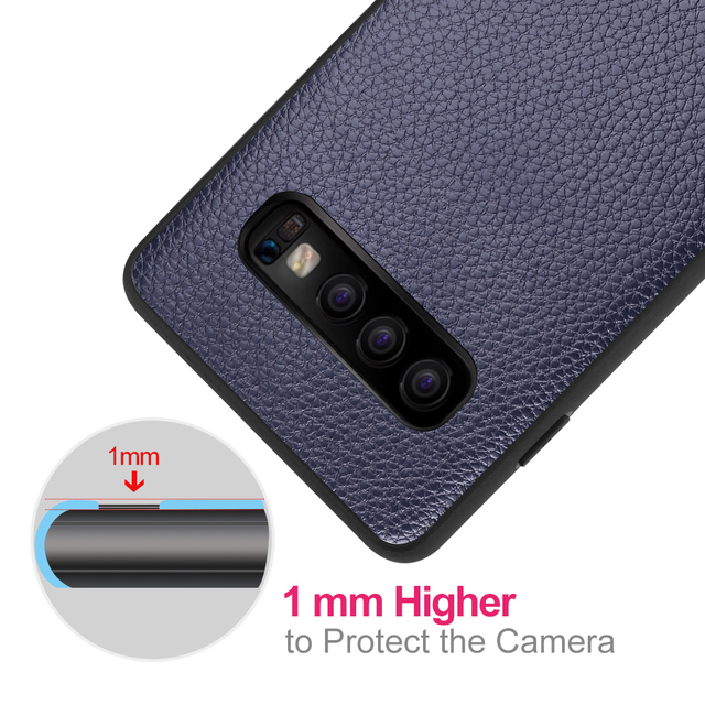 MOFi Galaxy S10 Plus S10e Leather Design Shockproof Back Case Cover