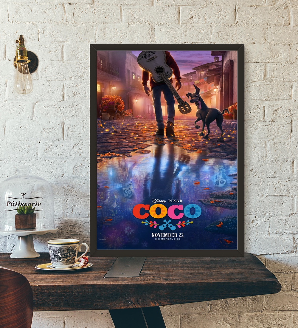 Coco Movie Poster Wall Art Wall Decor Silk Prints Art