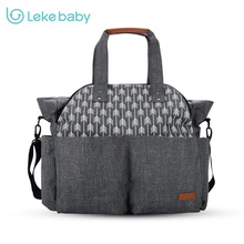 Сумка для подгузников Lekebaby для мам, большая дорожная сумка для кормления, дизайнерский рюкзак для коляски, сумка для смены детских подгузников