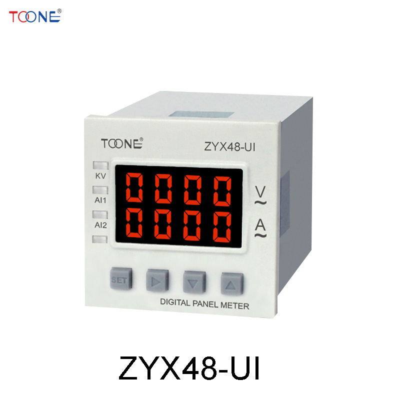 Single - phase AC digital display of intelligent current and voltage combination table ZYX48 - UI / SX48 * 48AV 660v ui 10a ith 8 terminals rotary cam universal changeover combination switch