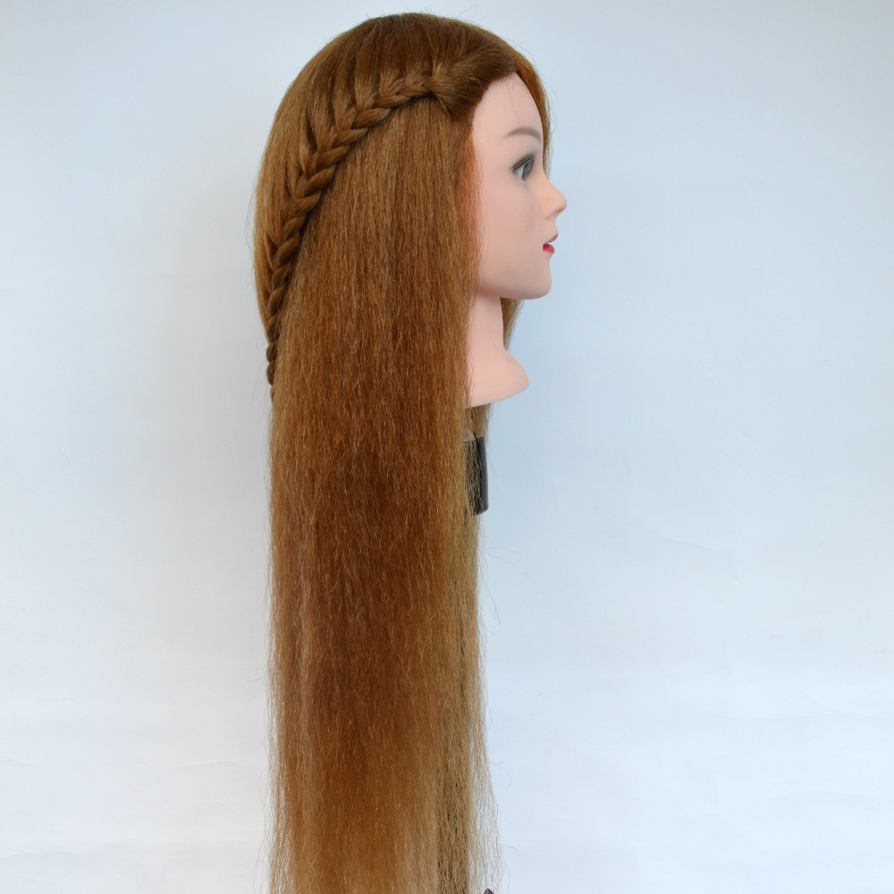 about 60CM hair length 95 Real natural Hair head hairdressing dolls head maniquines women mannequin head