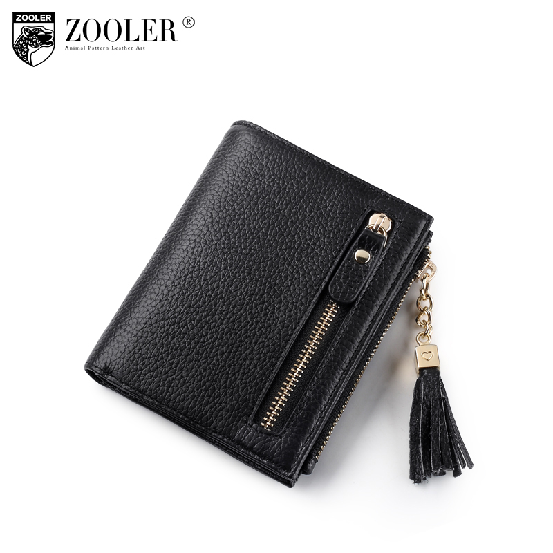 2018 new ZOOLER Woman mini-wallet Genuine leather wallets womens purses luxury zipper clutch coin purse women money bag r113 top cow genuine leather short wallet women wallets and woman purses fashion coin clutch bag purse card holder