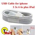 Actualizar 2016 Últimas Blanco 8pin USB Fecha Sincronización de Carga Del Cargador Del Cable de Alambre para iphone 5 6 plus para ipad para ios 8 9 1 m