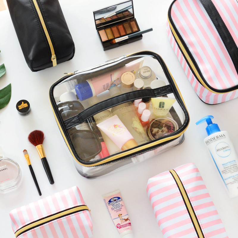 61ce9b14f26d PVC Transparent Cosmetic Bag Organizer Travel Toiletry Bag Set Pink Beauty  Case Makeup Case Beautician Vanity Necessaire Trip-in Cosmetic Bags   Cases  from ...