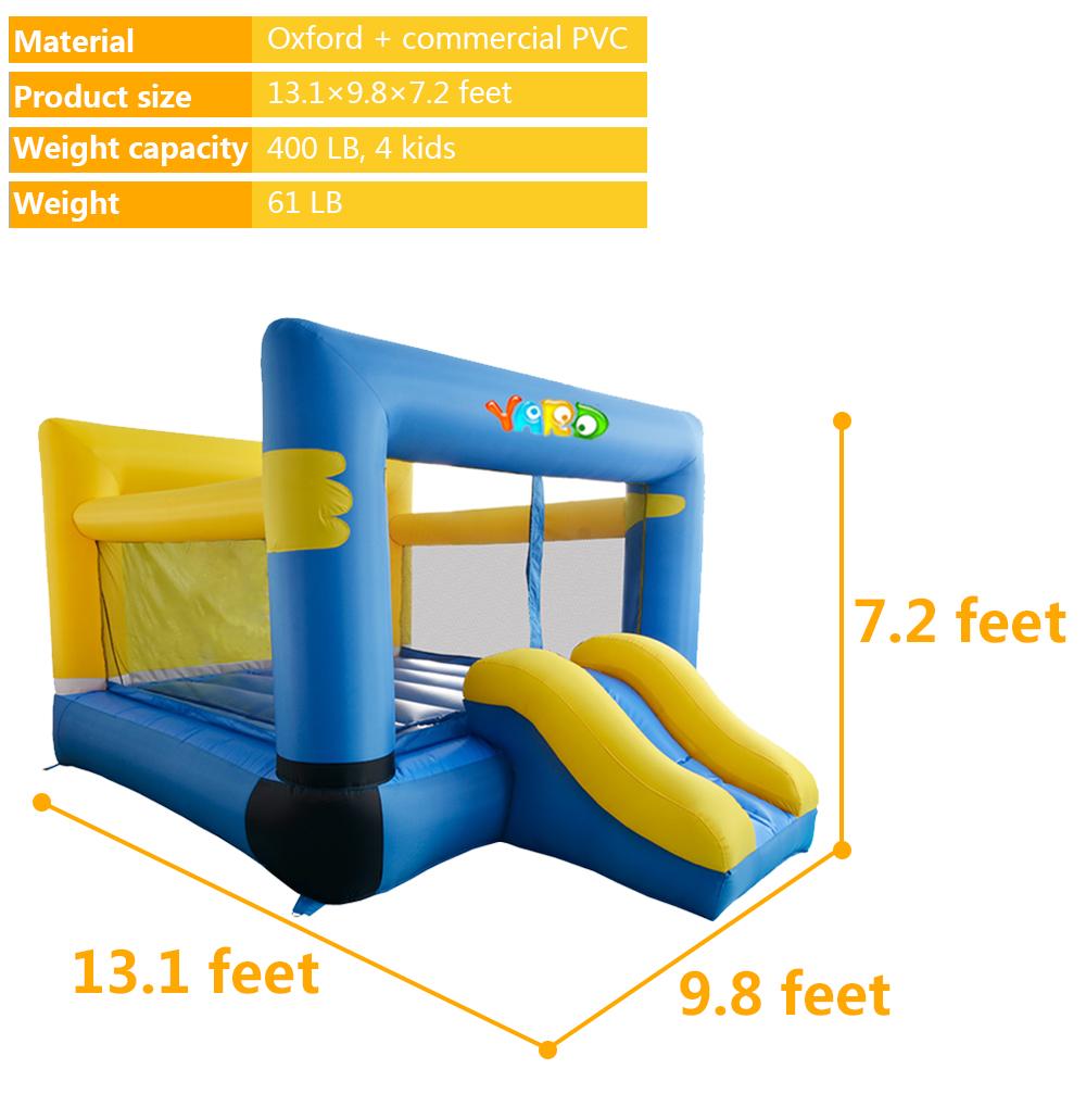 HTB1RDSPSpXXXXcPXVXXq6xXFXXXD - YARD Residential Inflatable Bouncer Bouncy House for Kids with Air Blower